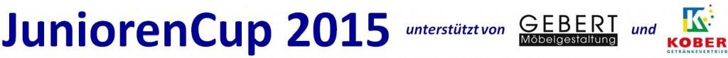 Logo JuniorenCup 2015 mit Sponsoren einzeilig
