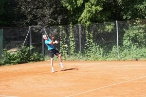 Vereinsmeister 2019: Steffen Moser sicherte sich ohne Satzverlust den Titel.